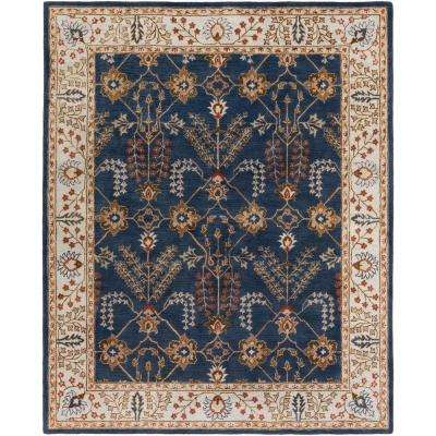 Middleton Kelly Navy Blue 8 ft. x 10 ft. Indoor Area Rug