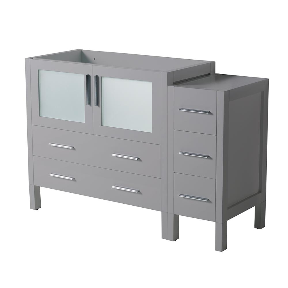 Torino 48 in. W Modern Bath Vanity Cabinet Only in Gray