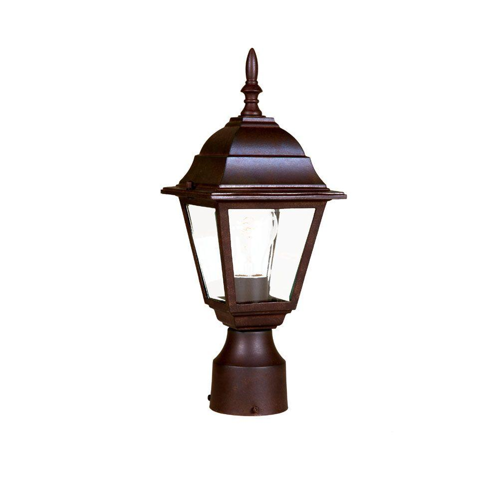Acclaim Lighting Builder's Choice 1-Light Burled Walnut Outdoor Post-Mount Fixture
