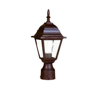 Builder's Choice 1-Light Burled Walnut Outdoor Post-Mount Fixture