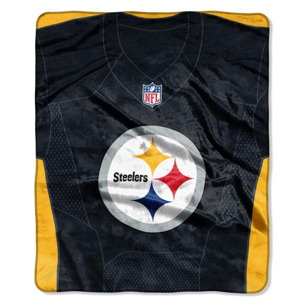 promo code 722d8 2f06c Steelers Jersey Raschel Throw