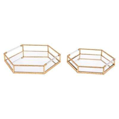 Golden Trays (Set of 2)