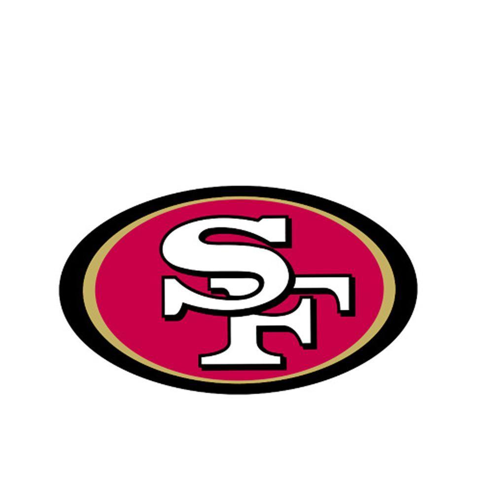 null San Francisco 49er NFL Teammate Logo Wall Applique