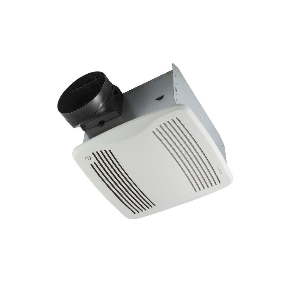 QTXEN Series Very Quiet 110 CFM Ceiling Humidity Sensing Bathroom Exhaust Fan, ENERGY STAR Qualified