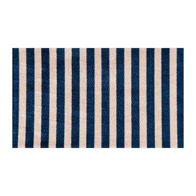In-Home Washable/Non-Slip Cabana Navy 2 ft. 3 in. x 3 ft. 11 in. Area Rug & Mat