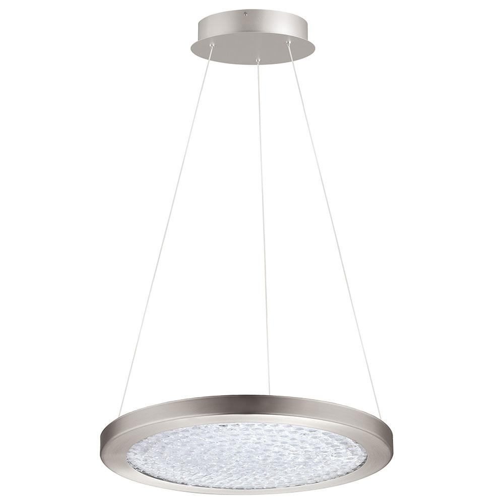 Eglo Arezzo 3 1x27-Watt LED 18 in. 1-Light Pendant with Matte Nickel