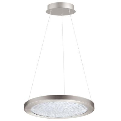 1-Light Arezzo 3 1x27-Watt LED 18 in. Pendant with Matte Nickel