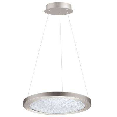 Arezzo 3 1x27-Watt LED 18 in. 1-Light Pendant with Matte Nickel