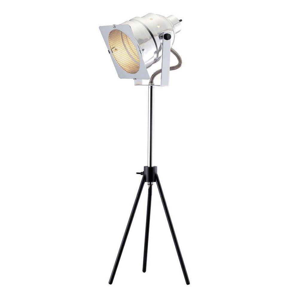 Adesso Spotlight 29 in. Chrome Table Lamp