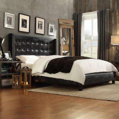 Franklin Park Black Queen Upholstered Bed