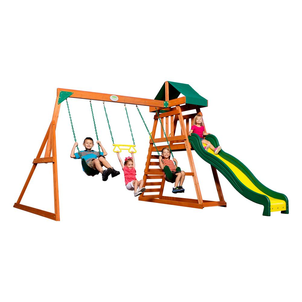 Backyard Discovery Prescott All Cedar Playset