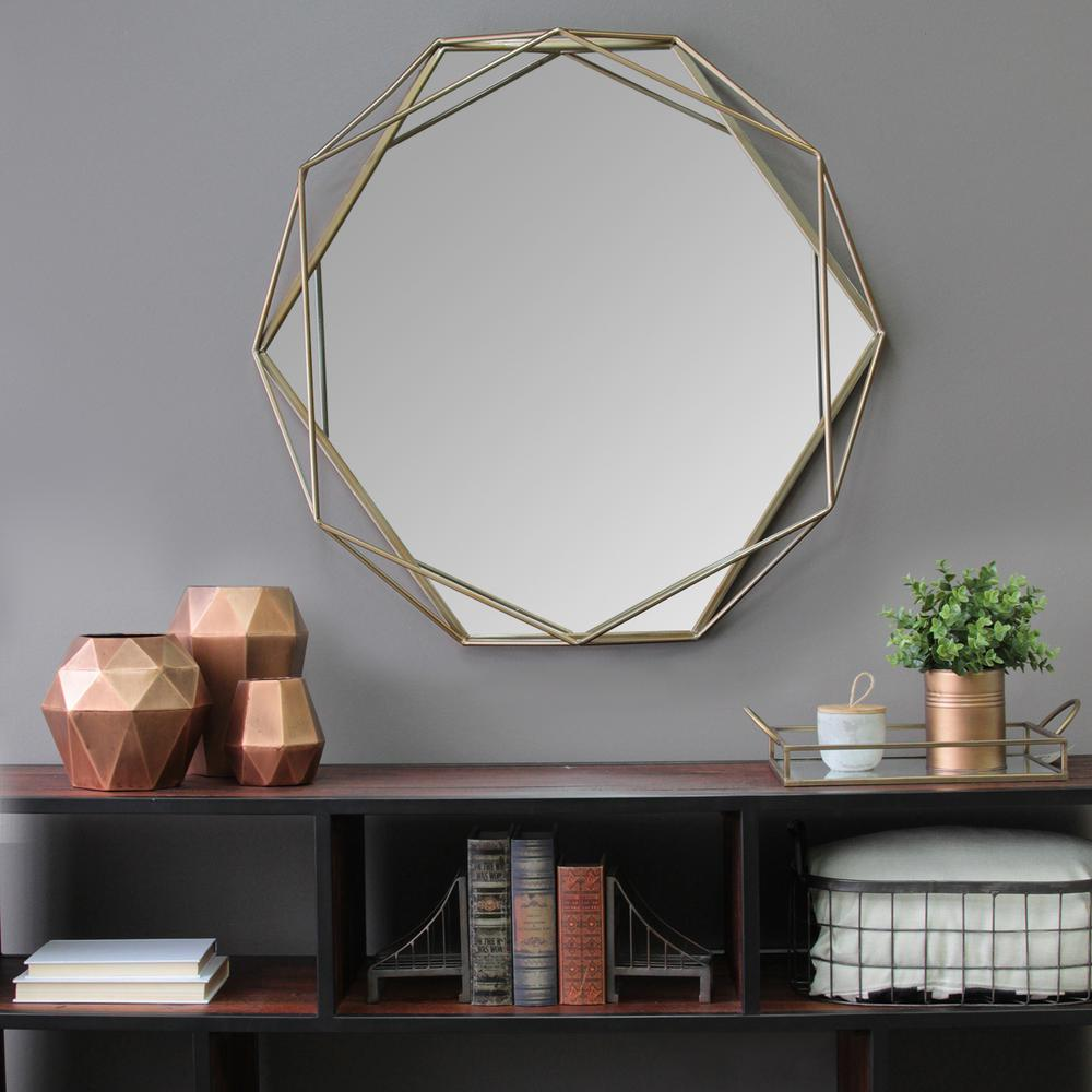 Stratton Home Decor Chloe Wall Mirror S11541 The Home Depot