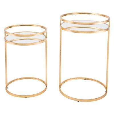 Gold Nesting Tables (Set of 2)