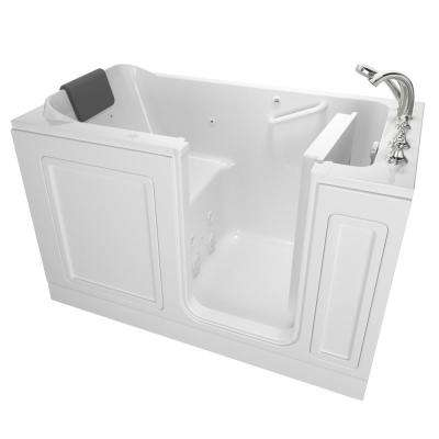 Acrylic Luxury 60 in. Right Hand Walk-In Whirlpool Bathtub in White