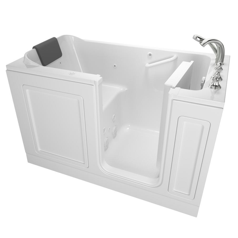 Acrylic Luxury 60 in. Right Hand Walk-In Whirlpool Bathtub in White