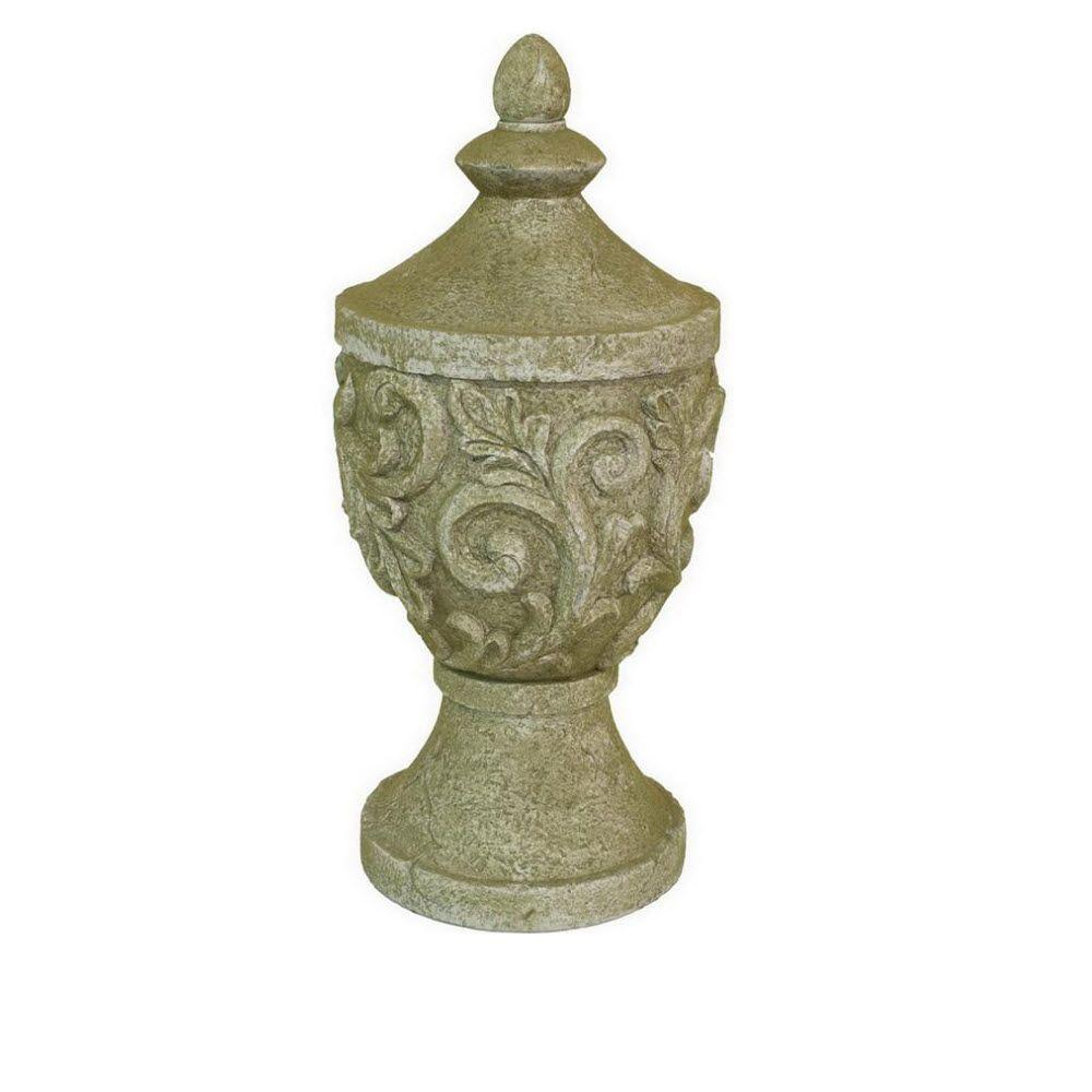 Home Decorators Collection Lisette 23.5 in. H Finial in Moss Green