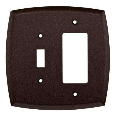 Mandara Decorative Switch and Rocker Switch Plate, Cocoa Bronze