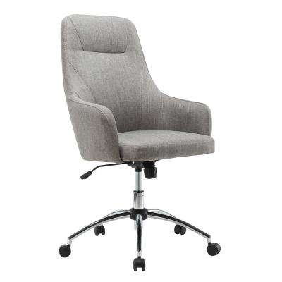 Gray Comfy Height Adjustable Rolling Office Desk Chair