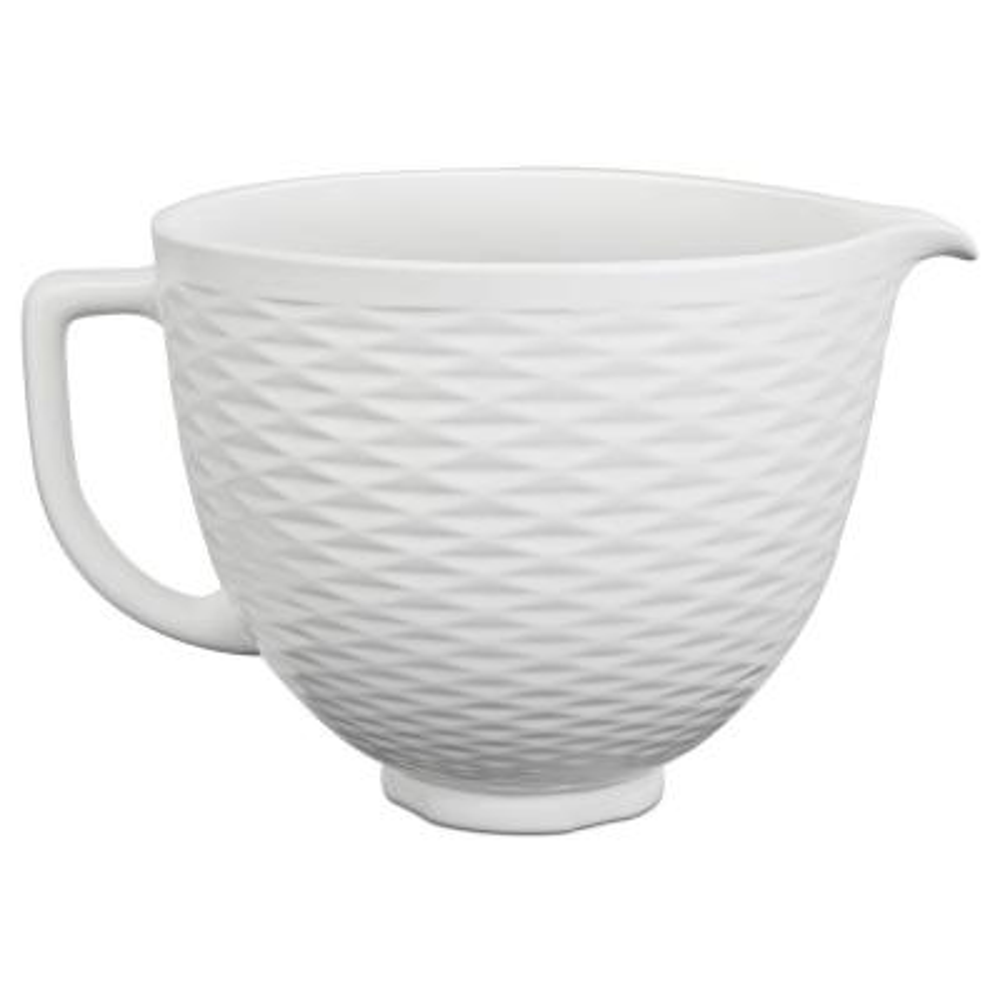 5 Qt. White Chocolate Textured Ceramic Bowl