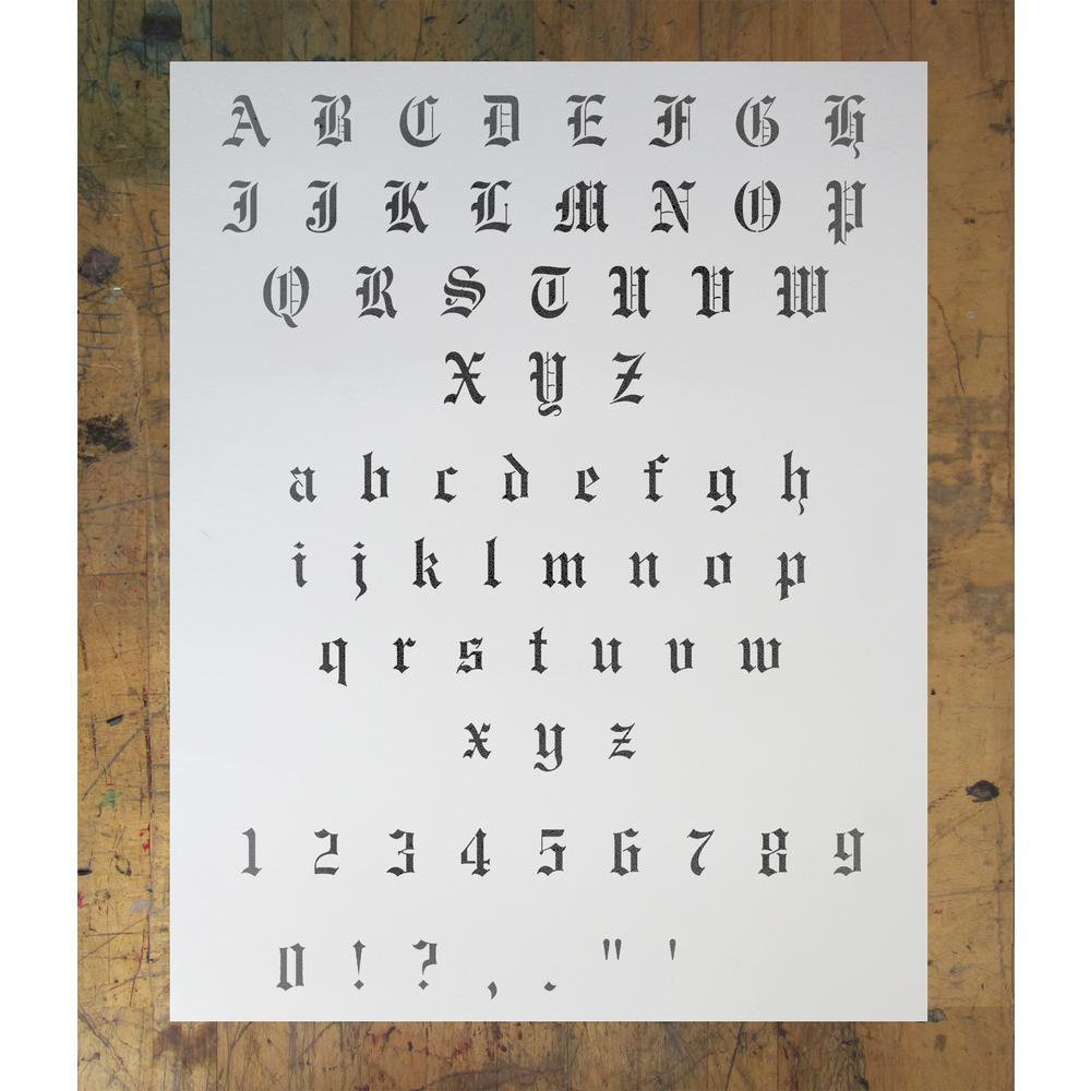 Stencil1 0 5 in  Old English Font Stencil
