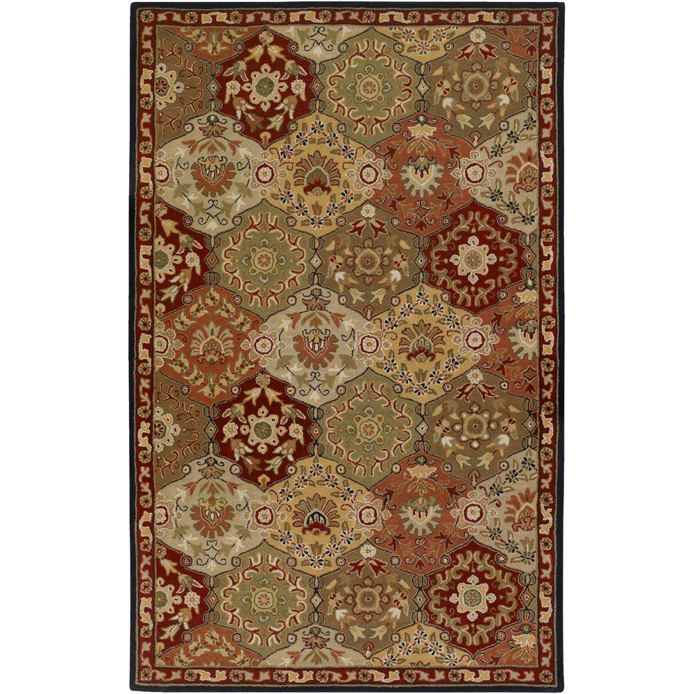 John Red 5 ft. x 8 ft. Area Rug