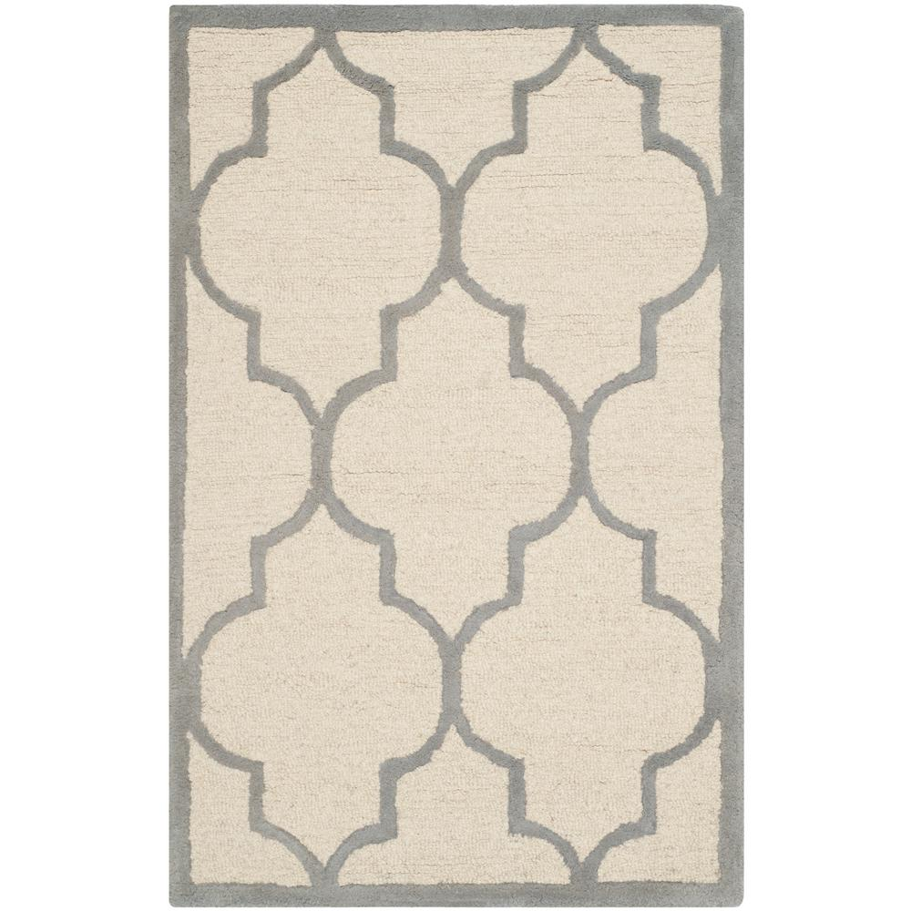 Cambridge Ivory/Silver 3 ft. x 5 ft. Area Rug