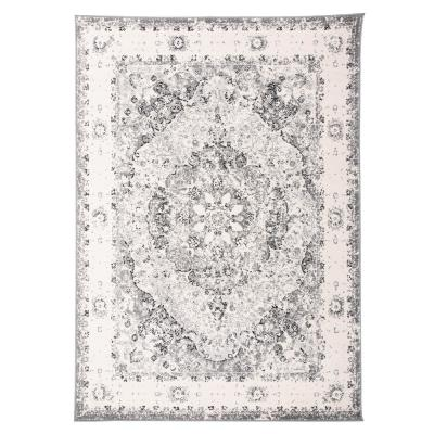 """Traditional Distressed Medallion Area Rug 7'10"""" x 10' Gray"""