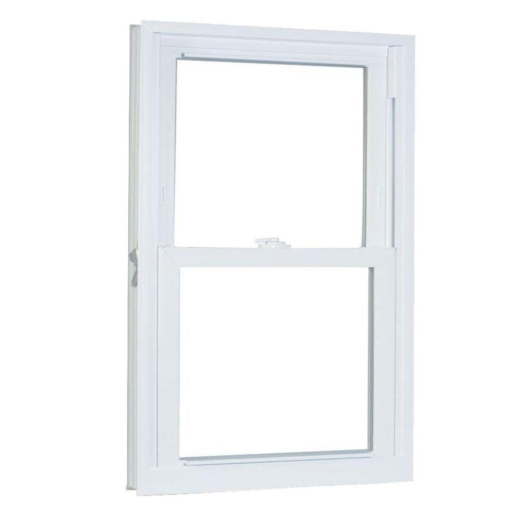 American Craftsman 23.75 in. x 40 in. 70 Series Pro Double Hung White Vinyl Window