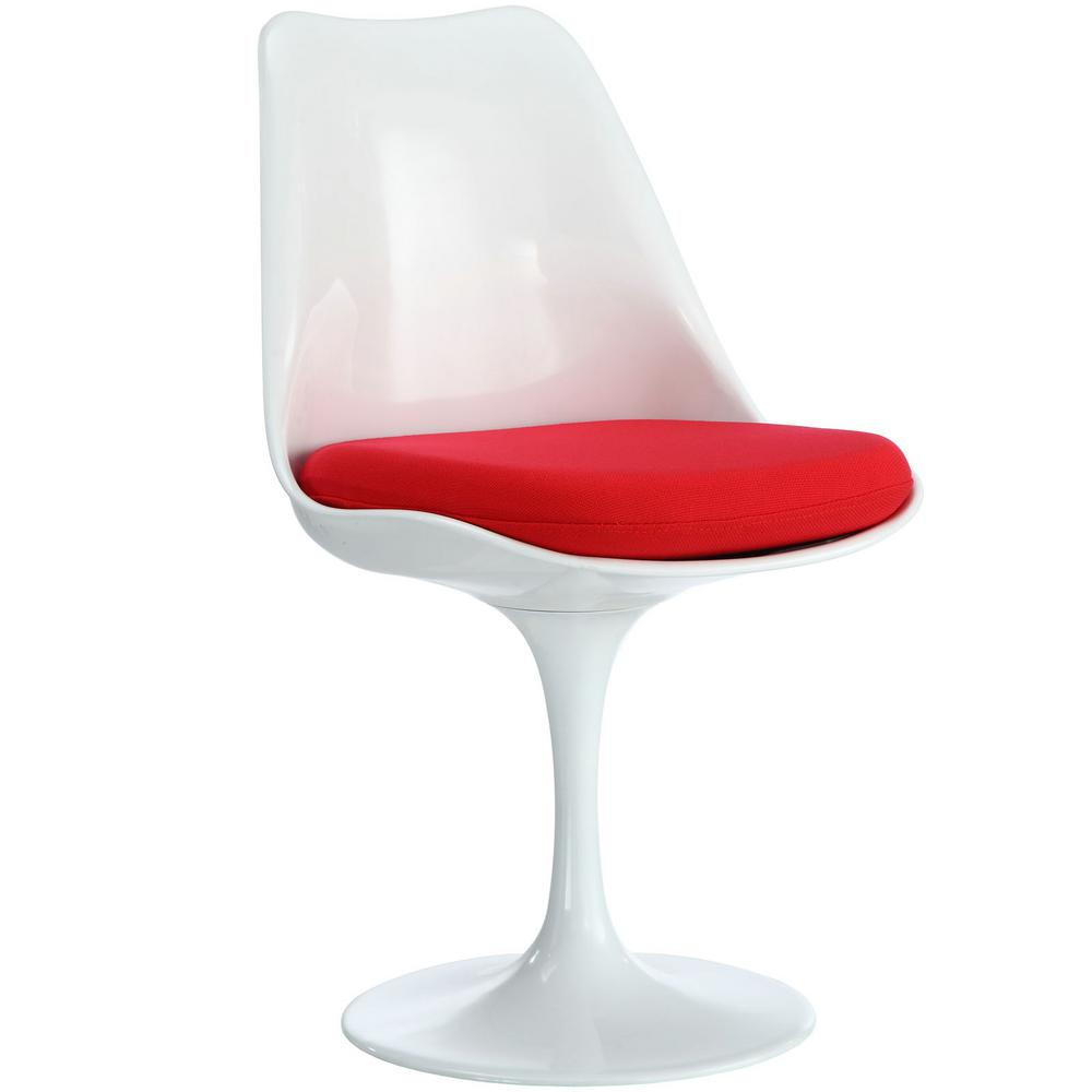 MODWAY Lippa Red Dining Fabric Side Chair