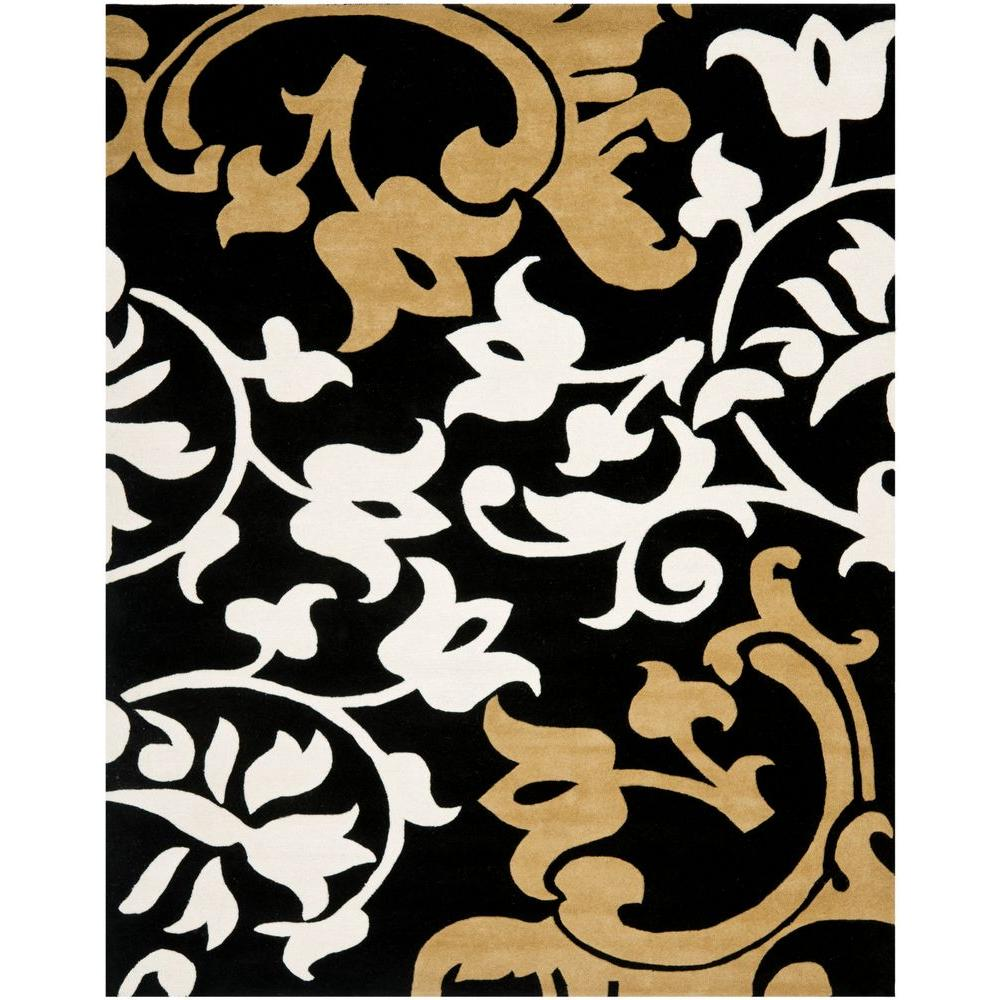 Soho Black/Multi 5 ft. x 8 ft. Area Rug