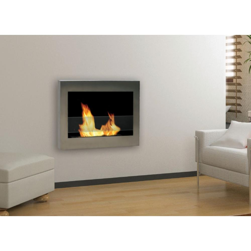 Anywhere Fireplace - SoHo 28 in. Wall-Mount Vent-Free Ethanol Fireplace in Stainless Steel Finish - Adds style and distinction to your living space. 100 percent clean burning