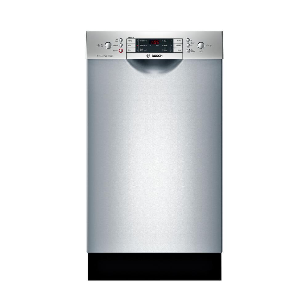 Bosch 800 Series 18 in. Front Control Tall Tub Dishwasher in Stainless Steel with Stainless Steel Tub and 3rd Rack, 44dBA