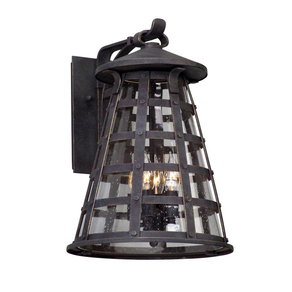 Benjamin 4-Light Vintage Iron Outdoor Wall Lantern Sconce