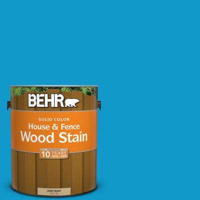 1 gal. #550B-6 Isle of Capri Solid Color House and Fence Exterior Wood Stain