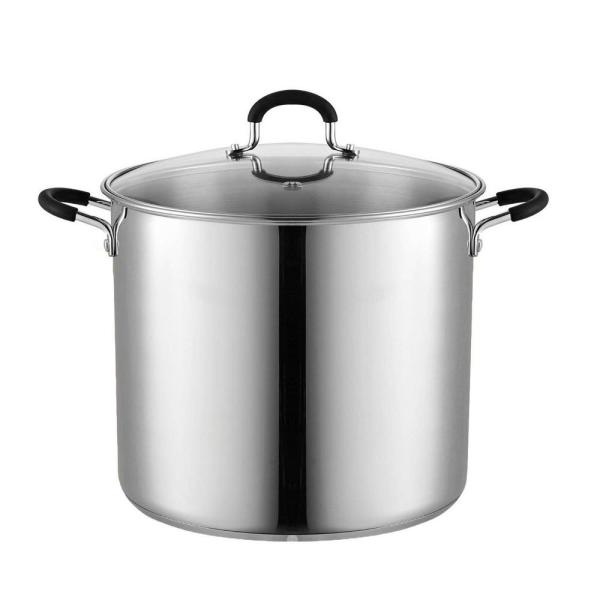 Cook N Home 12 Qt. Stainless Steel Stockpot Saucepot with Lid