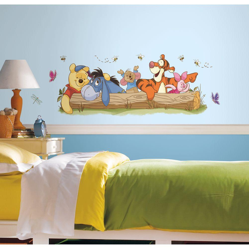 5 In. X 19 In. Winnie The Pooh   Outdoor Fun Peel And Stick