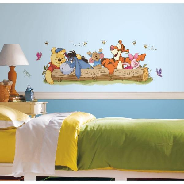 5 in. x 19 in. Winnie the Pooh - Outdoor Fun Peel and Stick Giant Wall Decal