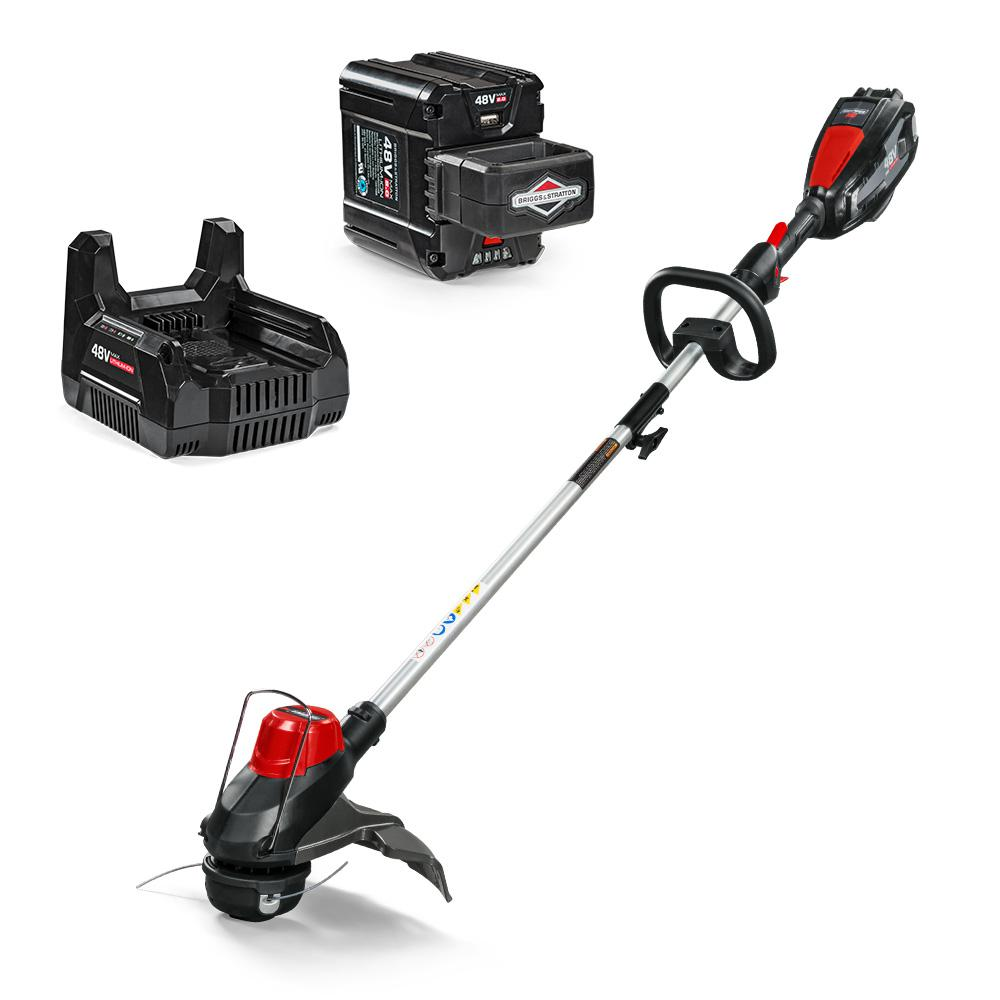 Snapper HD 48-Volt Lithium-Ion Cordless String Trimmer 2.0 Battery & Charger Included