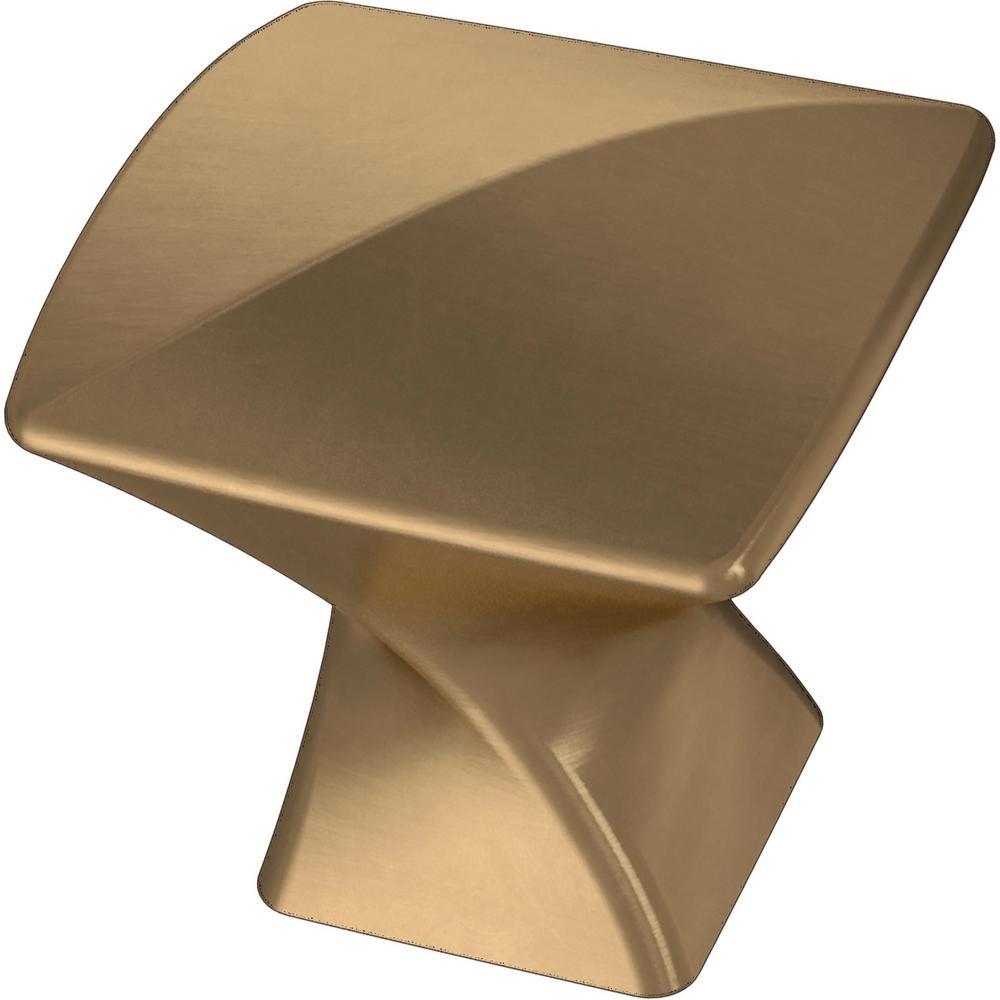 Modern Twist 1-3/16 in. (30 mm) Champagne Bronze Cabinet Knob