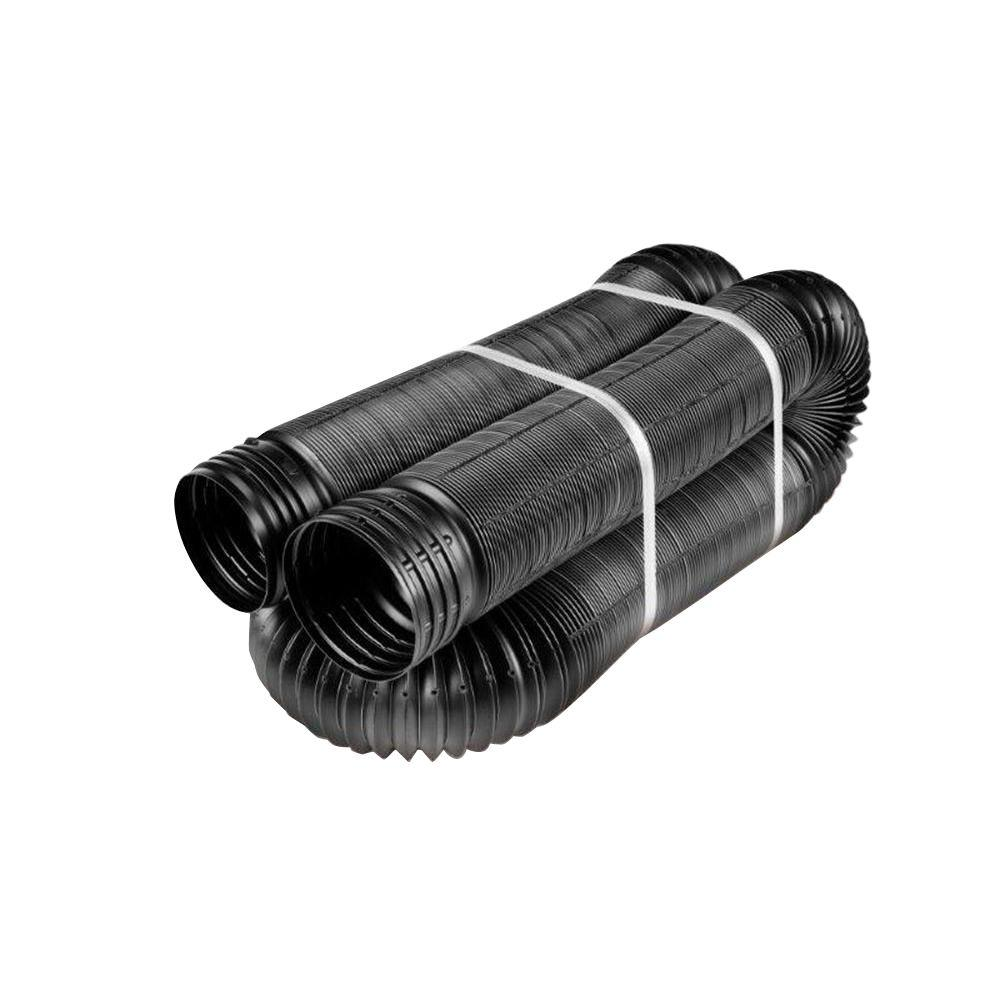 Flex drain in ft polypropylene perforated pipe