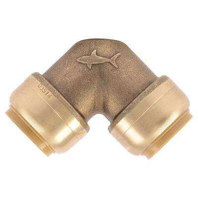 3/4 in. Push-to-Connect Brass 90-Degree Elbow Fitting (10-Pack)