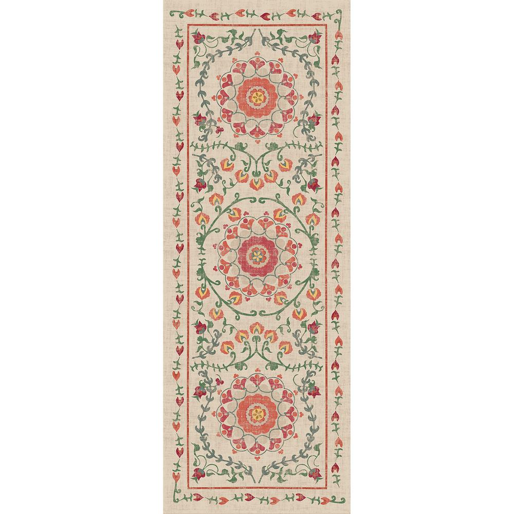 Washable Rugs Home Depot: Ruggable Washable Suzi Coral 2 Ft. 6 In. X 7 Ft. Runner