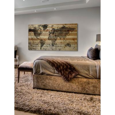 """30 in. H x 60 in. W """"Lost in the World"""" by Parvez Taj Printed Natural Pine Wood Wall Art"""