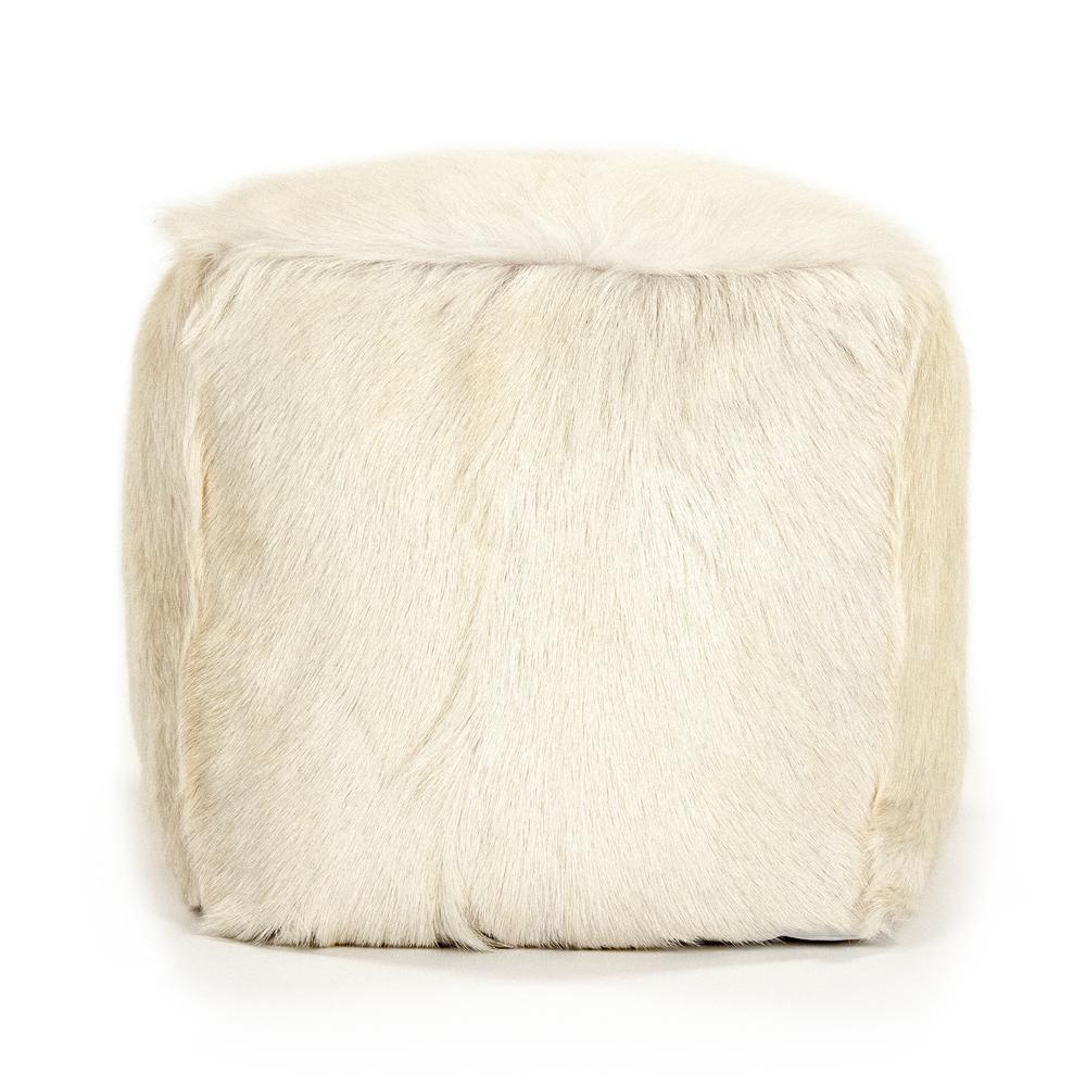 zentique Tibetan Ivory Goat Fur Pouf was $477.0 now $315.0 (34.0% off)