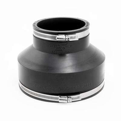 Flexible Coupling 6 in. x 4 in. Flexible PVC for Cast Iron or PVC Coupling with Stainless Steel Bands
