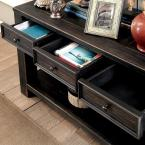 Furniture of America Jerry Antique Black 4-Drawer Sofa Table