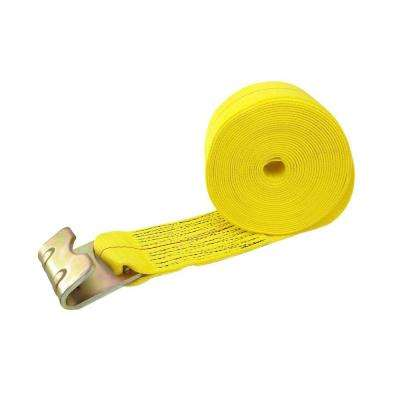 30 ft. x 4 in. 15,000 lbs. Truck Tie-Down Flat Hook