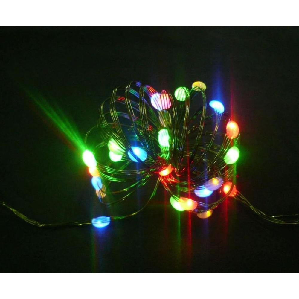Home Accents Holiday 8 Ft 24 Leds Ultra Slim Wire Multi Color Large Dot String Light