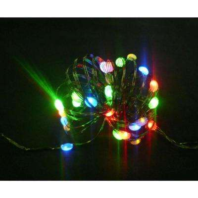 8 ft. 24 LEDs Ultra Slim Wire Multi-Color Large Dot String Light