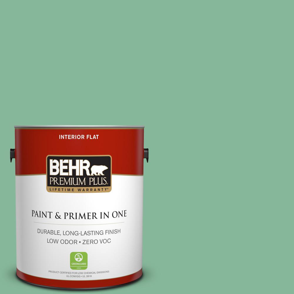 BEHR Premium Plus 1-gal. #470D-4 Garden View Zero VOC Flat Interior Paint